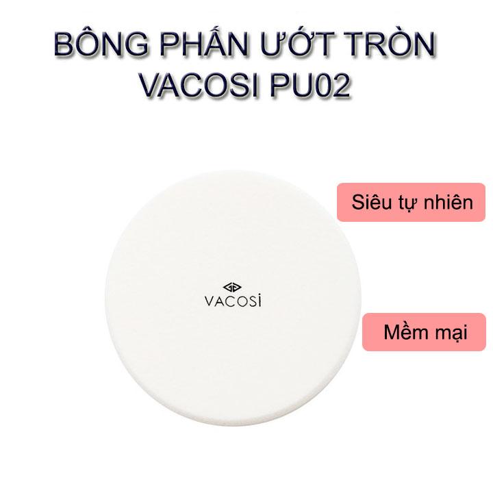 Bông Ướt Vacosi Tròn Trung #PU02 ( Bịch 1 Cái )