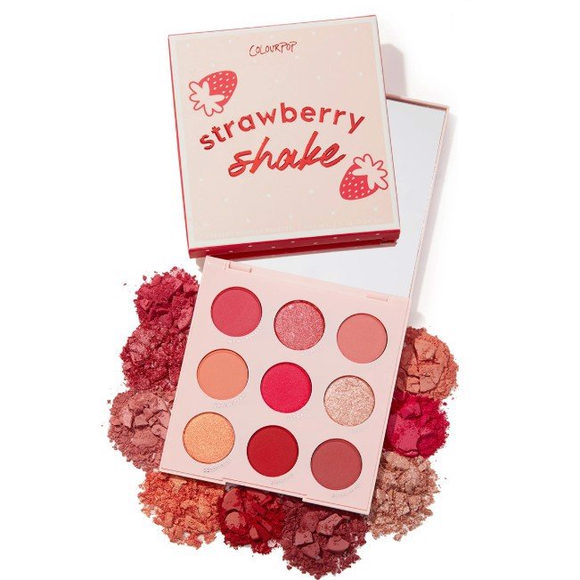 Bảng Màu Mắt ColourPop Strawberry Shake Pressed Powder Palette (9 Ô)