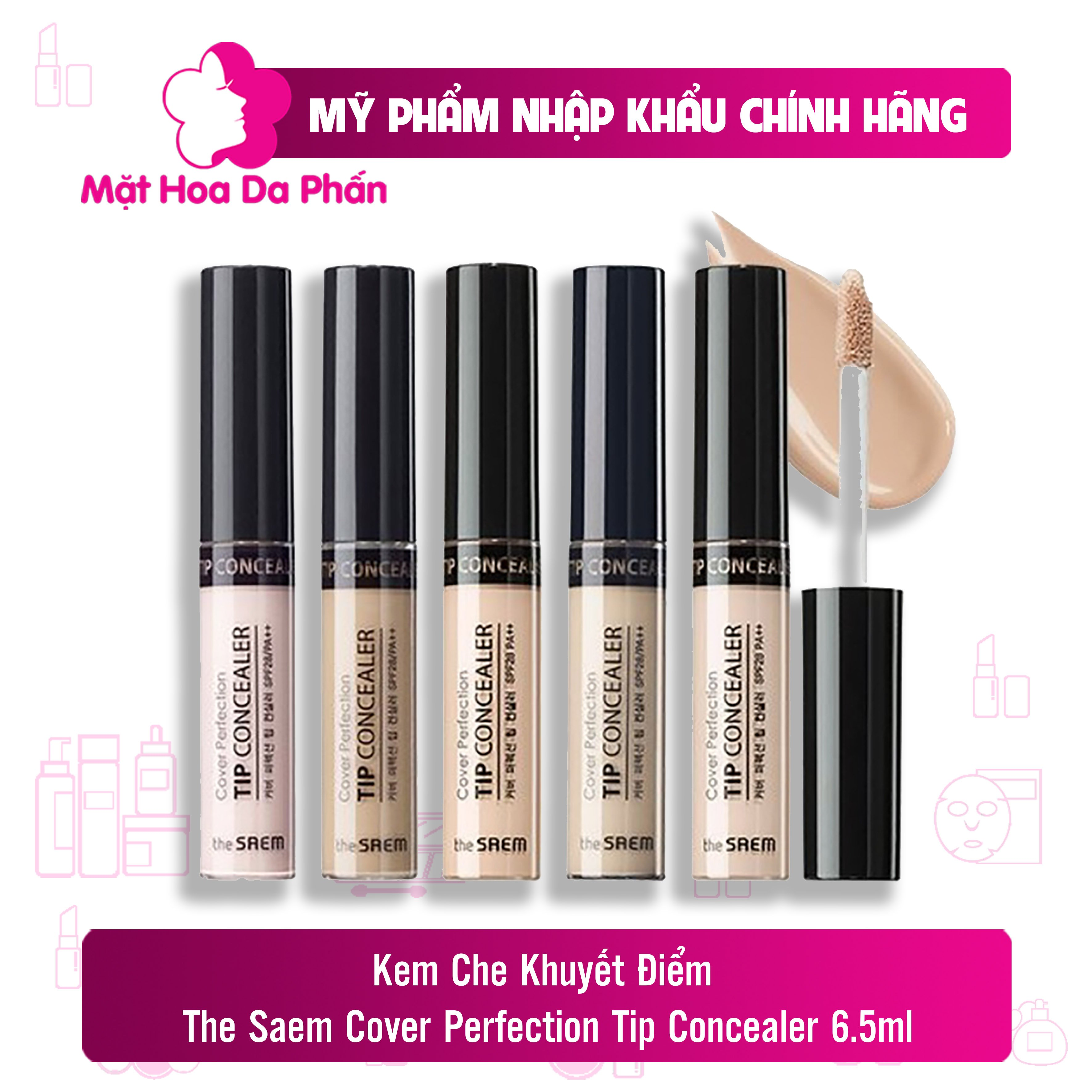 Che khuyết điểm The Saem Cover Perfection Tip Concealer  6.5g #1.5