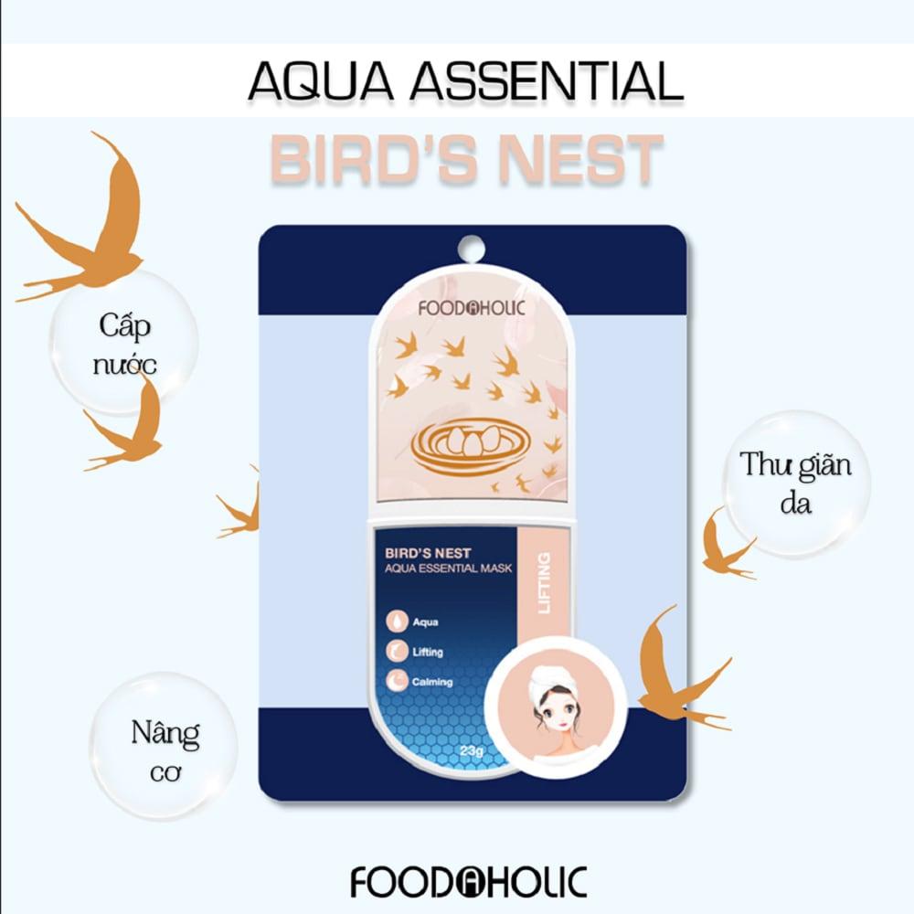 Mặt Nạ Foodaholic Bird's Nest Aqua Essential Mask 23g