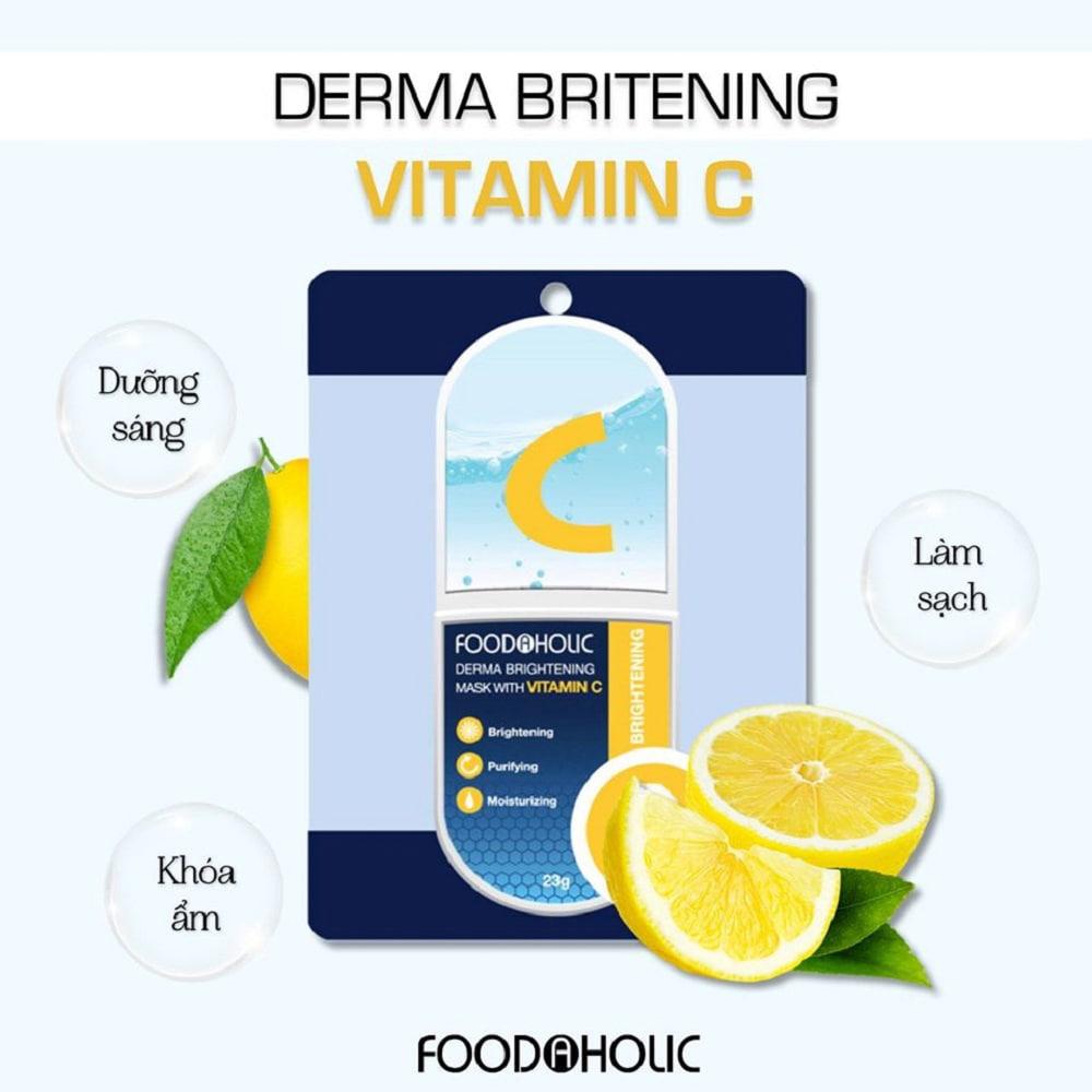 Mặt Nạ Foodaholic Derma Brightening Mask with Vitamin C
