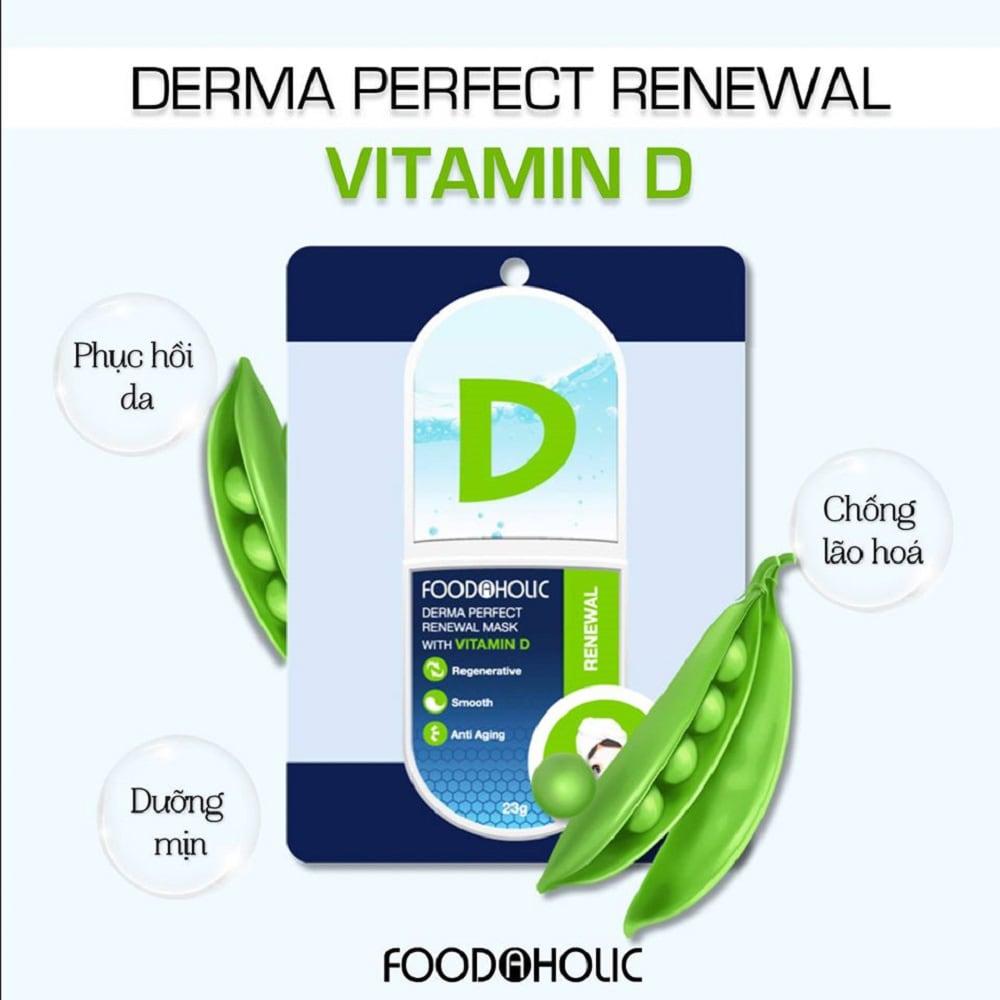 Mặt Nạ Foodaholic Derma Perfectt Renewal Mask with Vitamin D 23g