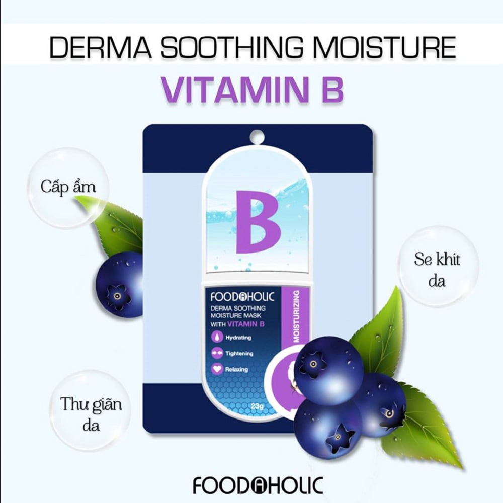 Mặt Nạ Foodaholic Derma Soothing Moisture Mask with Vitamin B 23g