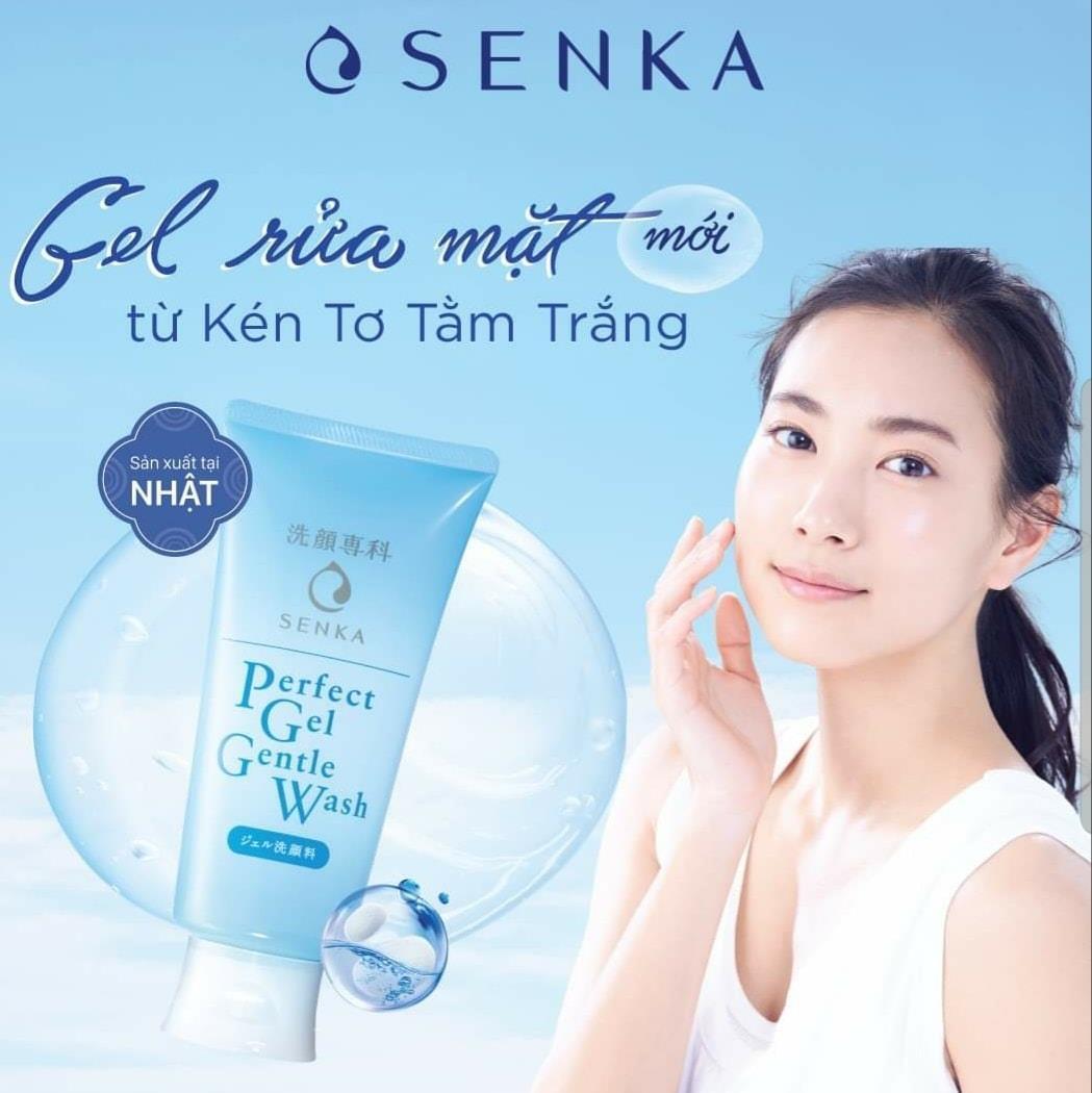 Gel Rửa Mặt Senka Perfect Gel Gentle Wash (100g)