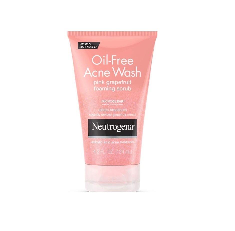 SRM Neutrogena Oil-Free Acne Pink Grapefruit Foaming Scrub 124Ml