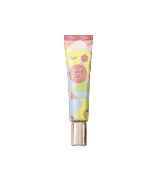 Kem Mắt AHC Vita Bright Real Eye Cream For Face 30ml- Hồng
