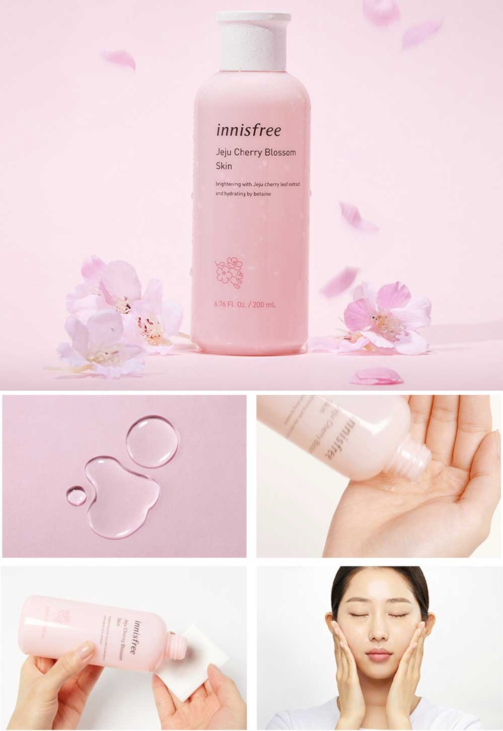 Nước Cân Bằng Innisfree Jeju Cherry Blossom Skin 200ml