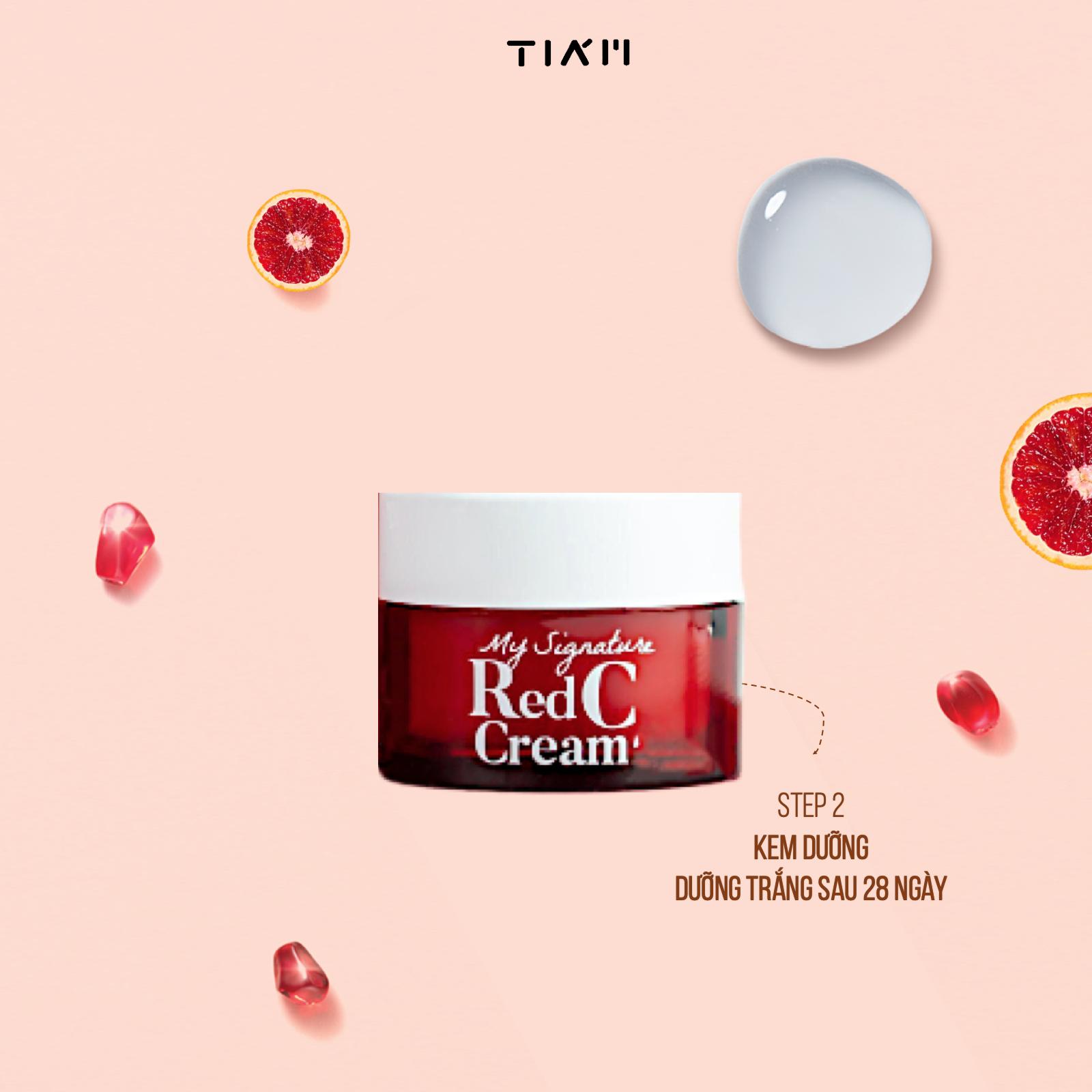 Bộ Dưỡng Da Tiam My Signature Red C Mini (3 EA: Toner/Serum/Cream)