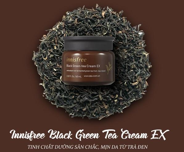 Kem Dưỡng Innisfree Black Green Tea Cream EX 60ml