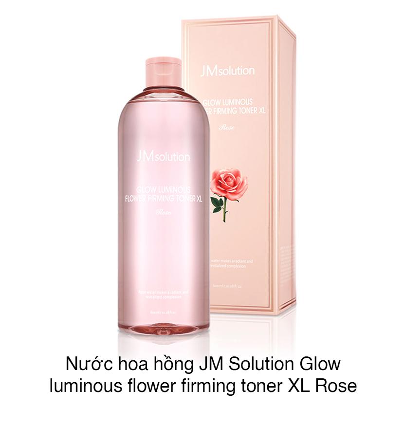Nước Cân Bằng JMsolution Glow Luminous Flower Firming Toner XL 600ml #Rose