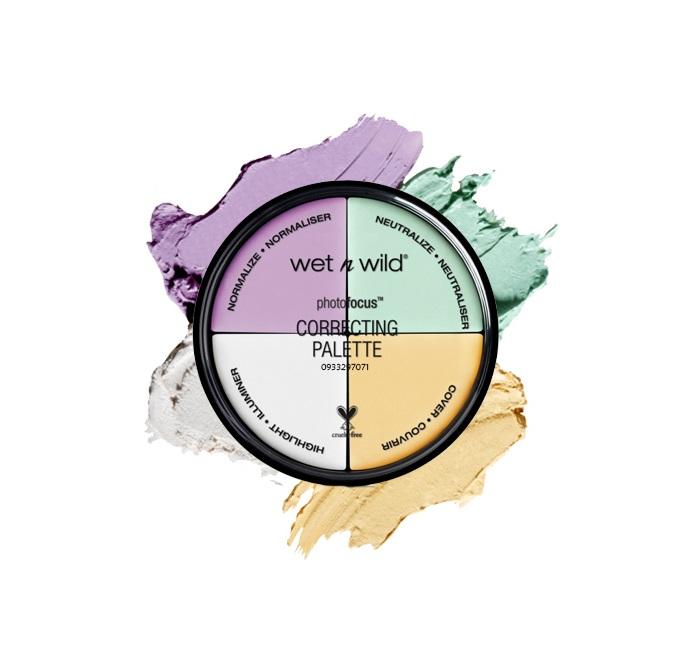 Kem Che Khuyết Điểm Wet N Wild Coverall Correcting Palette 4 Ô