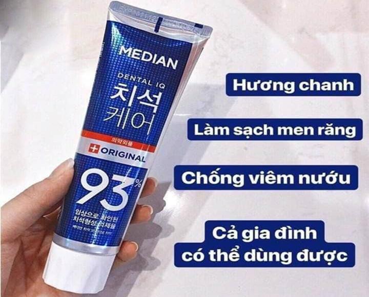Kem Đánh Răng Median 93% Xanh
