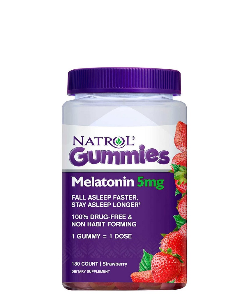 Kẹo Ngủ Ngon Natrol Gummies Melatonin 5mg 180 viên