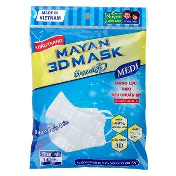 Khẩu Trang Mayan 3D Mask (5 Cái)