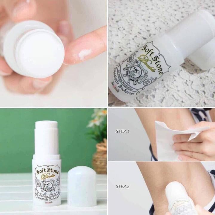 Lăn Khử Mùi Đá Khoáng Nhật Soft Stone 20G