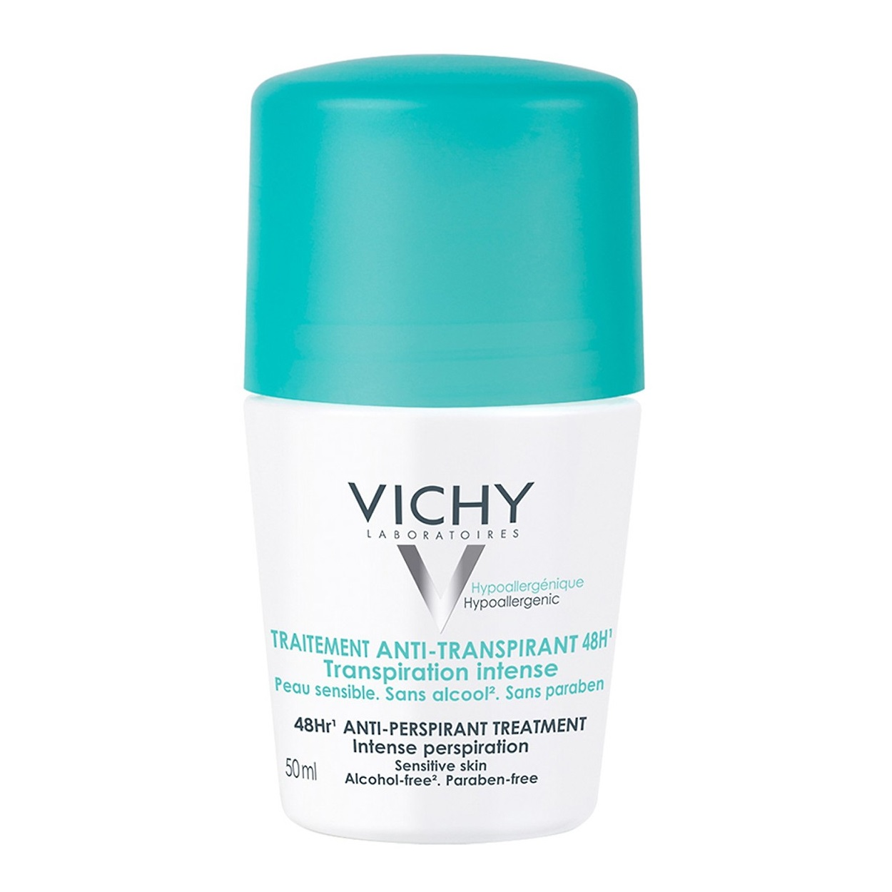 Lăn Khử Mùi Vichy Traitement Anti-Transpirant 48h (Nắp Xanh) 50ml