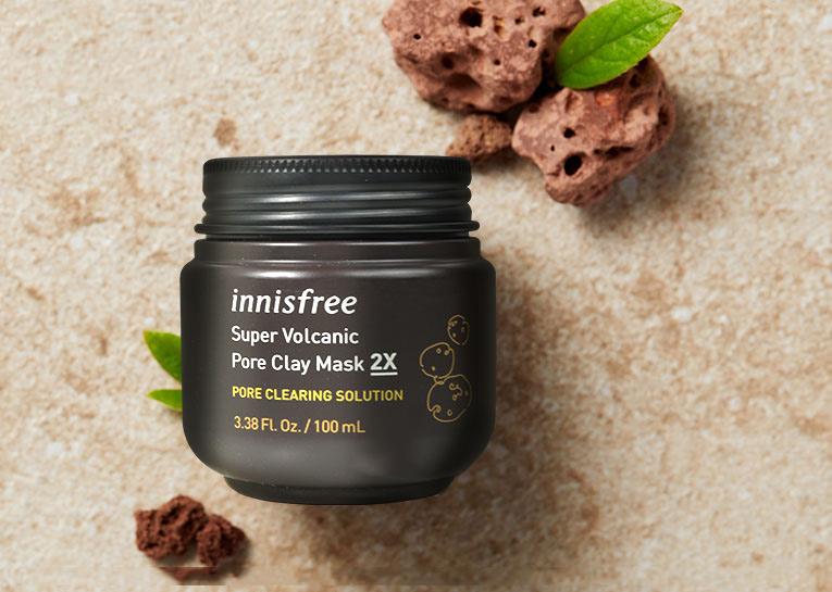 Mặt Nạ Đất Sét Innisfree Super Volcanic Pore Clay Mask 2X 2019 100ML