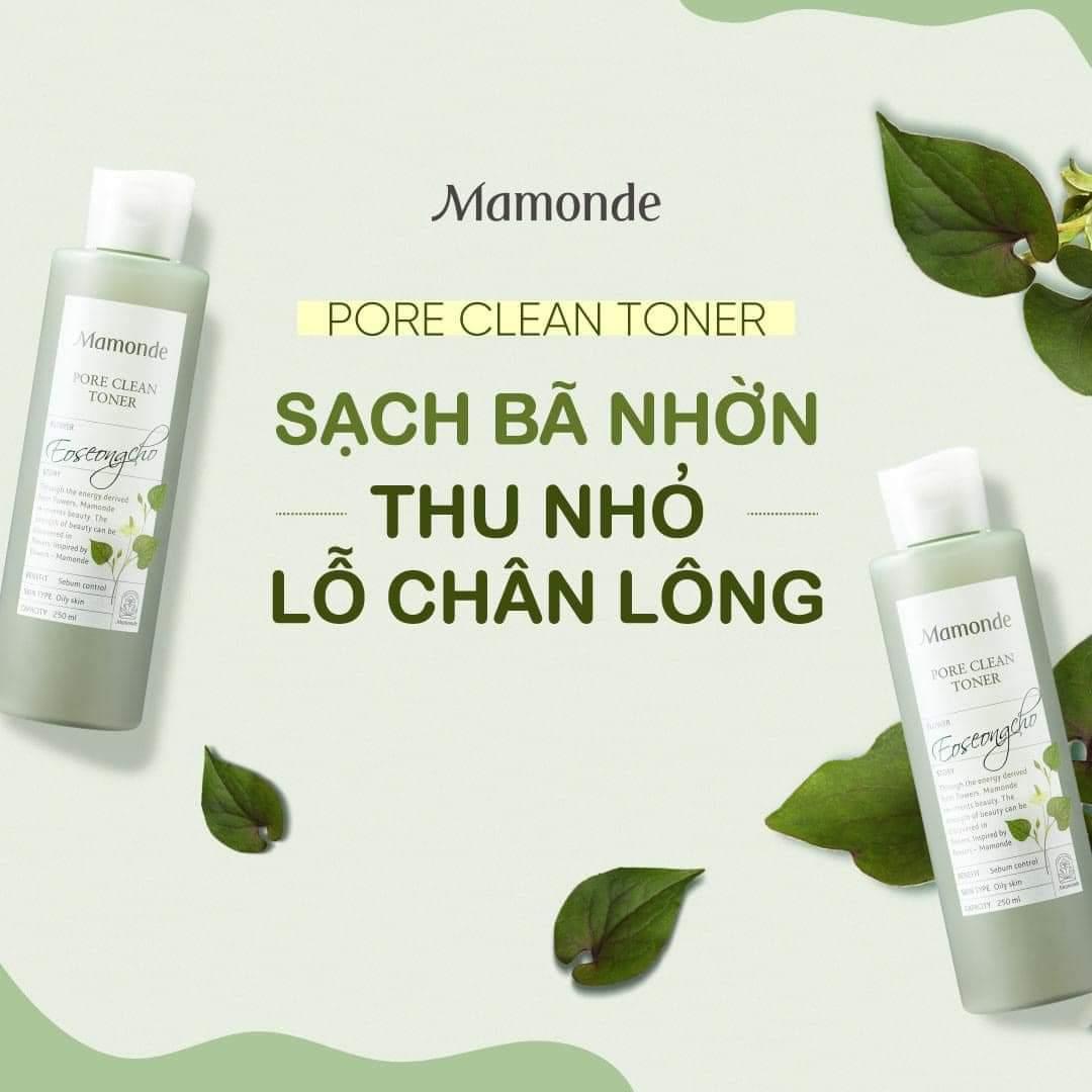Nước Cân Bằng Ngăn Ngừa Mụn Mamonde Pore Clean Toner 250ml