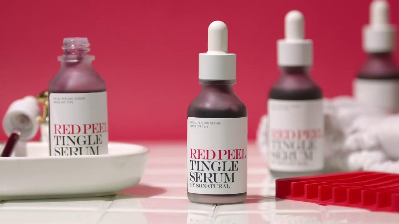 Tinh Chất Red Peel Tingle Serum So'Natural 35Ml