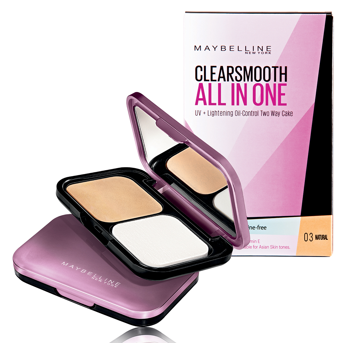 Phấn Phủ Maybelline Clearsmooth All In One 5 In 1 #03 Natural