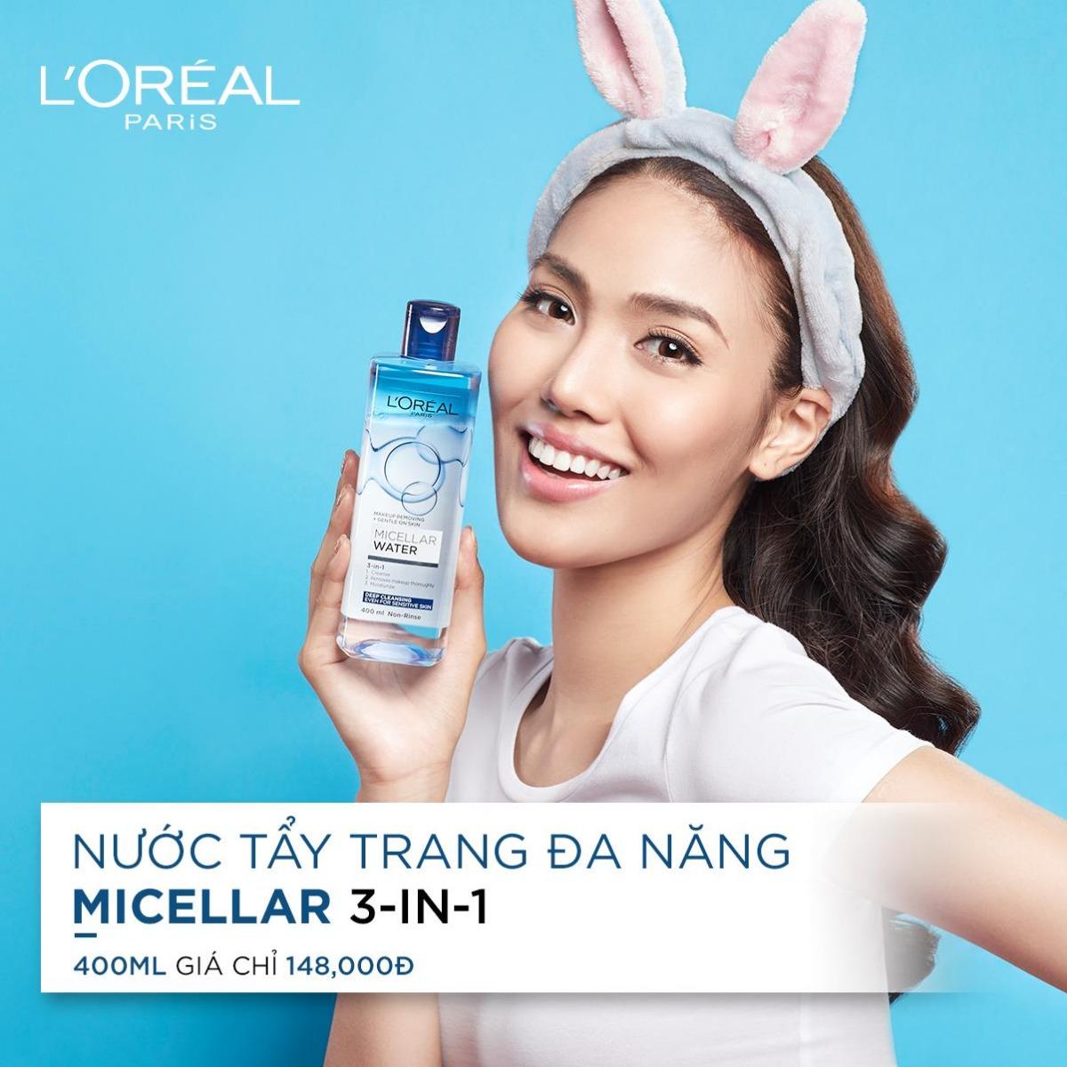 Tẩy Trang L'Oreal Micellar Water #Deep Cleansing (Dầu) 400ML
