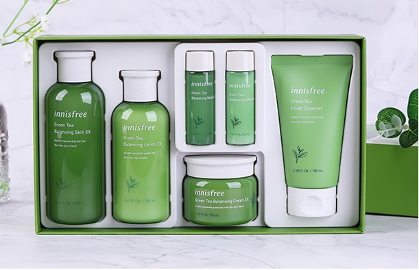 Set Dưỡng Da Innisfree Green Tea Balancing Skin Care Trio Set Ex (6 EA)