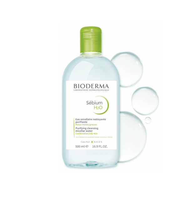 Tẩy Trang Bioderma Sebium H20 500ml (Xanh)