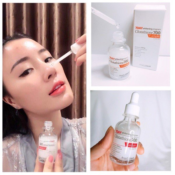 Tinh Chất Angel's Liquid 7Day Whitening Program Glutathione 700 V-Ample 30Ml