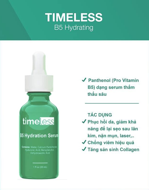 Tinh Chất Timeless Vitamin B5 + HA 30ml