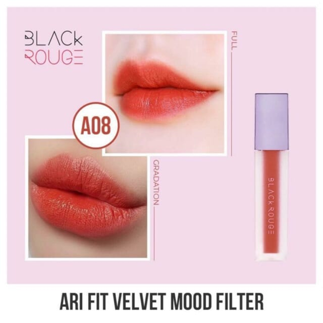 Son Black Rouge Airfit Velvet A08 (Tím)