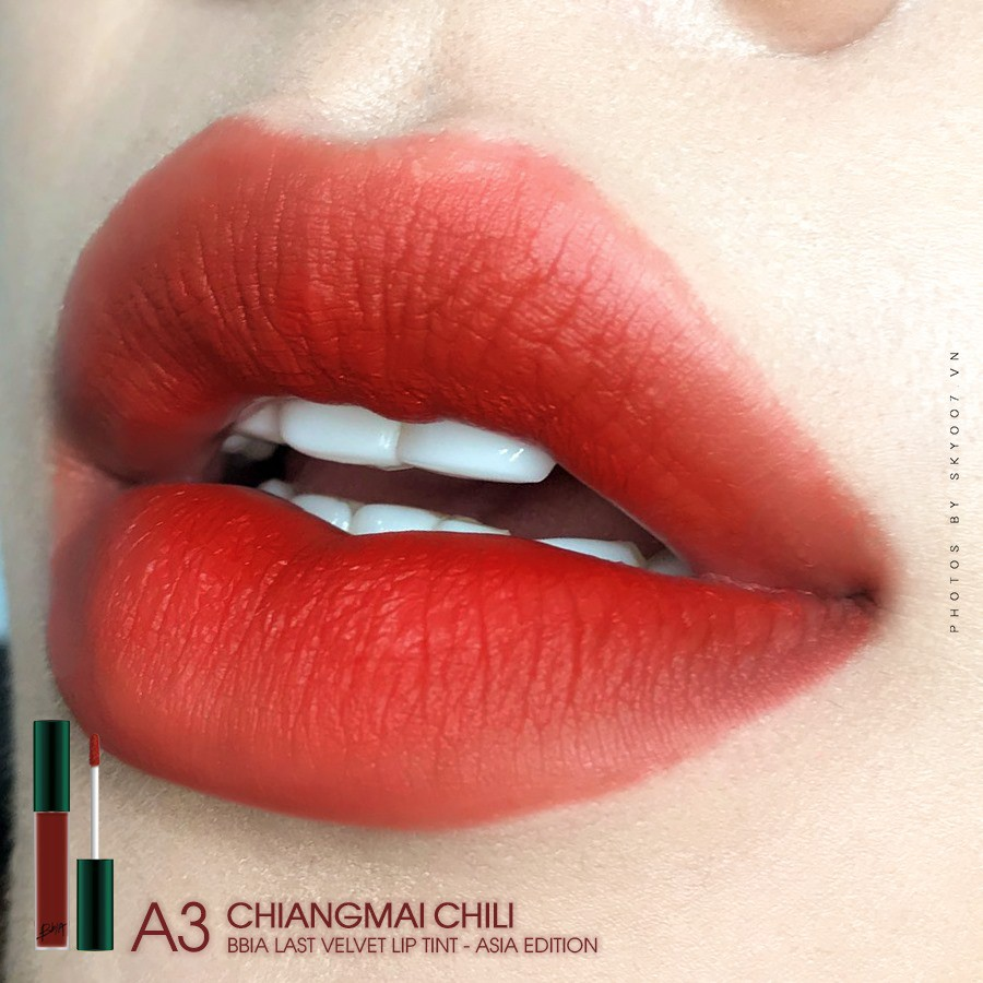 Son Bbia Asia Edition Last Velvet Lip Tint #A3 Chiang Mai Chili