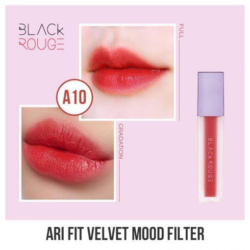 Son Black Rouge Airfit Velvet A10 (Tím)