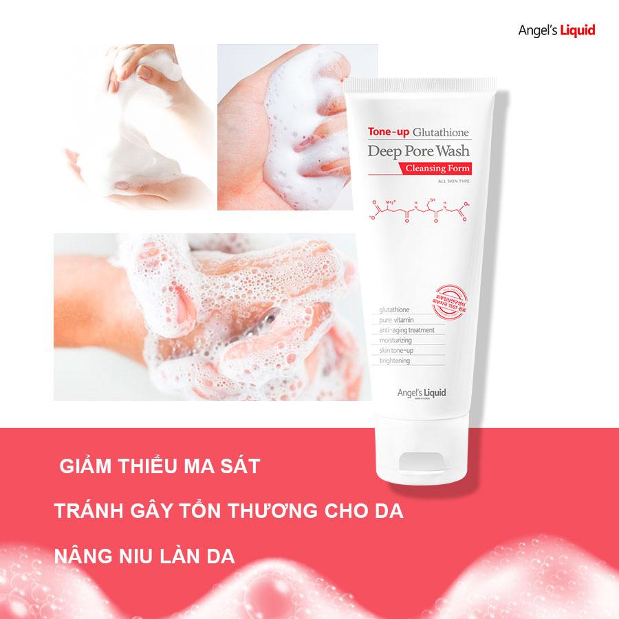 SRM Angel's Liquid Tone-up Deep Pore Wash 120ml (tuýp)