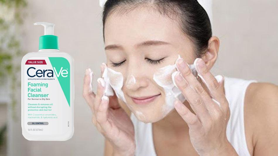 Sữa Rửa Mặt Cho Da Thường Và Da Dầu Cerave Foaming Facial Cleanser For Normal To Oil Skin 355ml