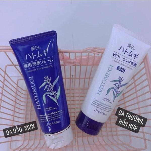 Sữa rửa mặt Hatomugi Cleansing & Facial Washing 130g