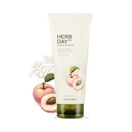 SRM TheFaceShop Herb Day 365 Master Blending Peach & Fig 170ml