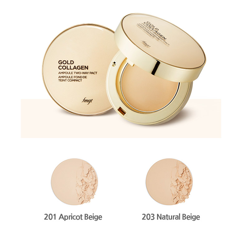 Phấn Phủ Fmgt Gold Collagen Ampoule Two-Way Pact #201