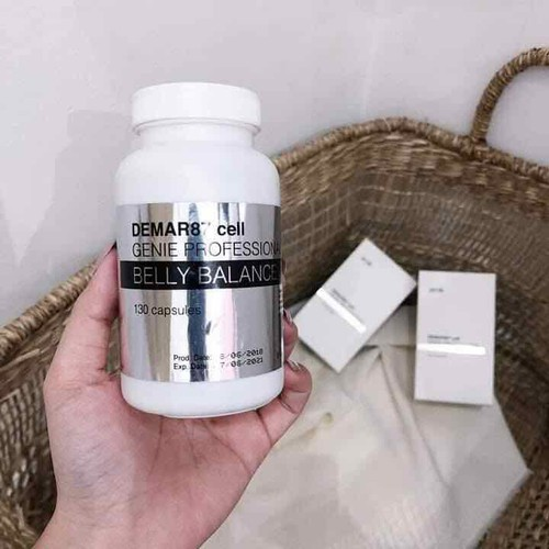 Viên Uống Giảm Mỡ Genie Demar87 Cell Belly Balance (130 viên)