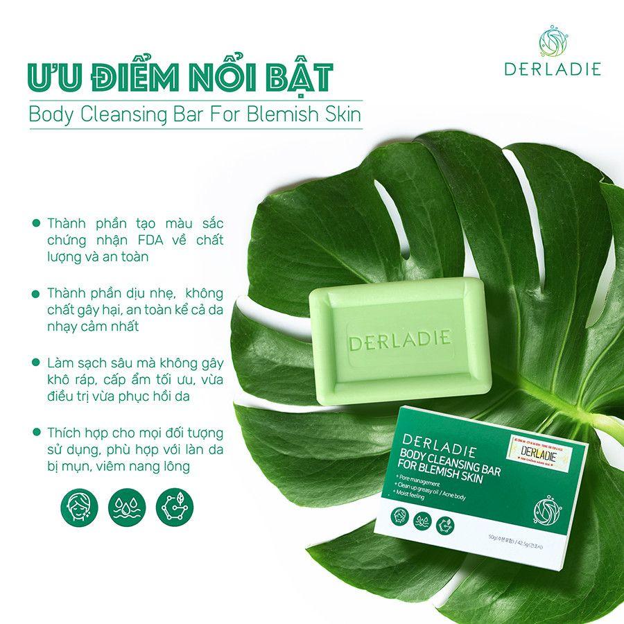 Xà Phòng Giảm Mụn Cơ Thể Derladie Body Cleansing Bar For Blemish Skin 50g