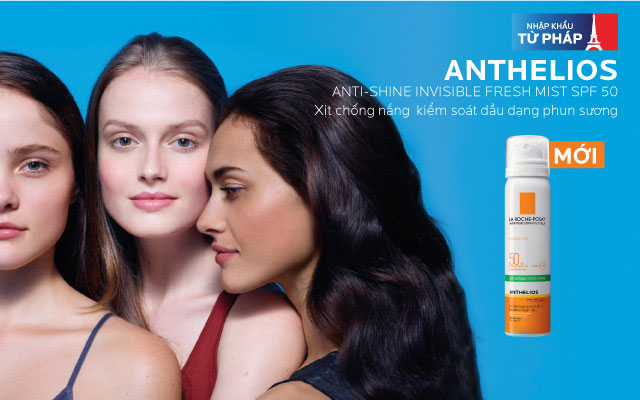 Xịt Chống Nắng La Roche Posay Anthelios Invisible Face Mist Anti-Shine Spf50 75Ml
