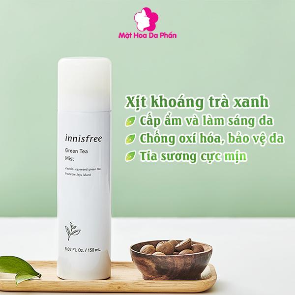 Xịt Khoáng Innisfree Green Tea Mist 2019 50ML