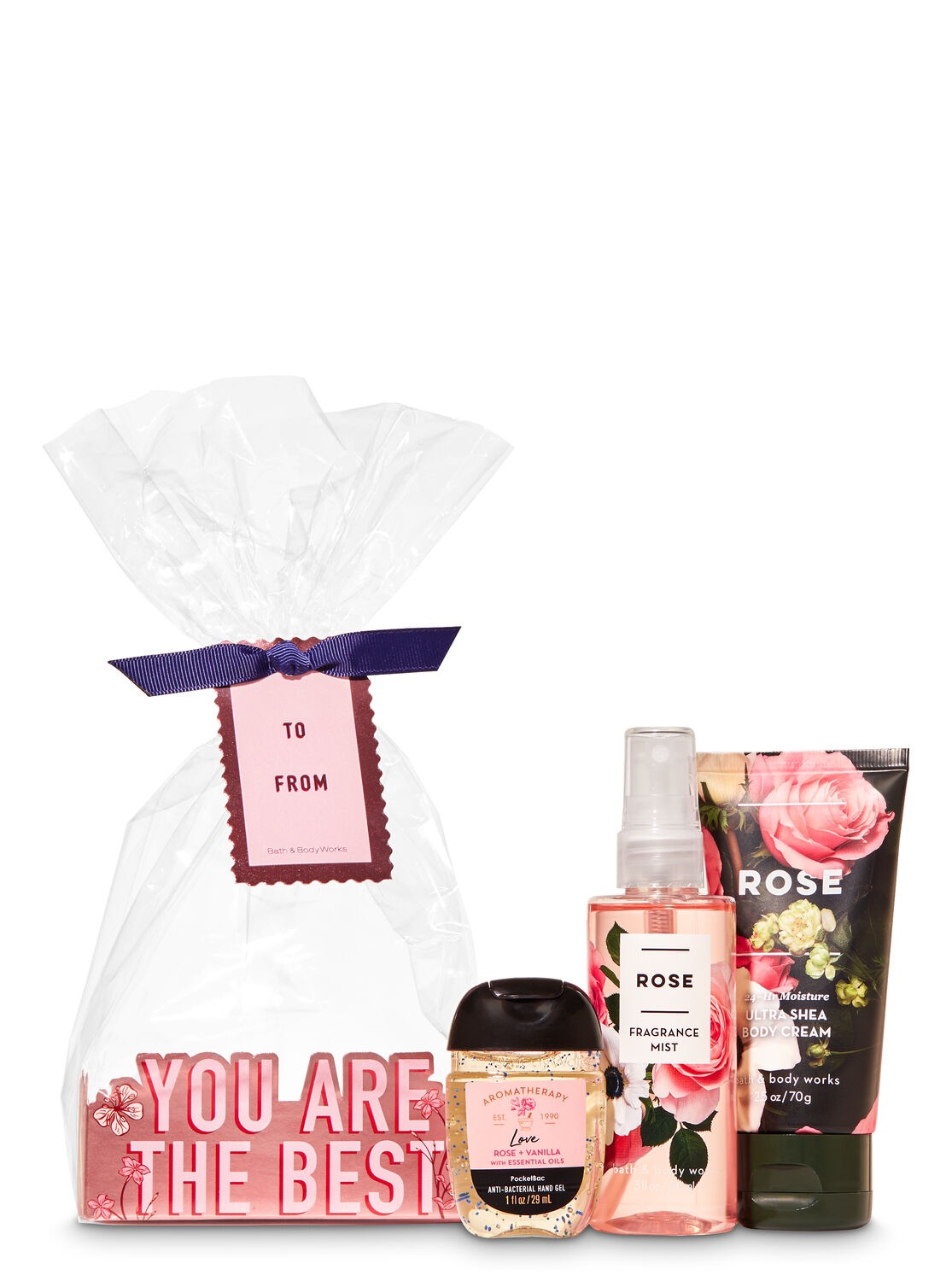 Set Mini Gift Travel Size Bath and Body Works Rose HOLIDAY CHEER!