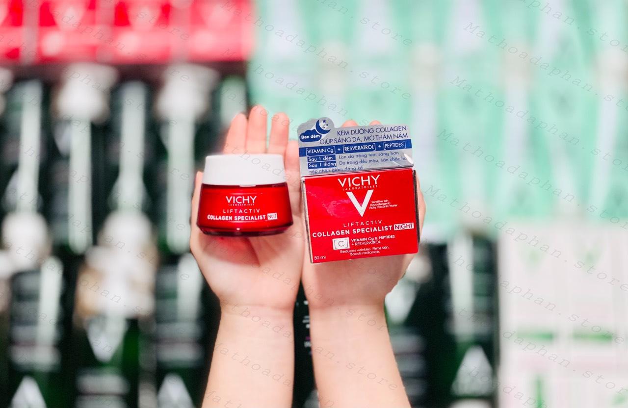 [Mẫu Mới] Kem Dưỡng Đặc Trị Mụn Thâm Nám Vichy LiftActiv Collagen Specialist Night 50ml