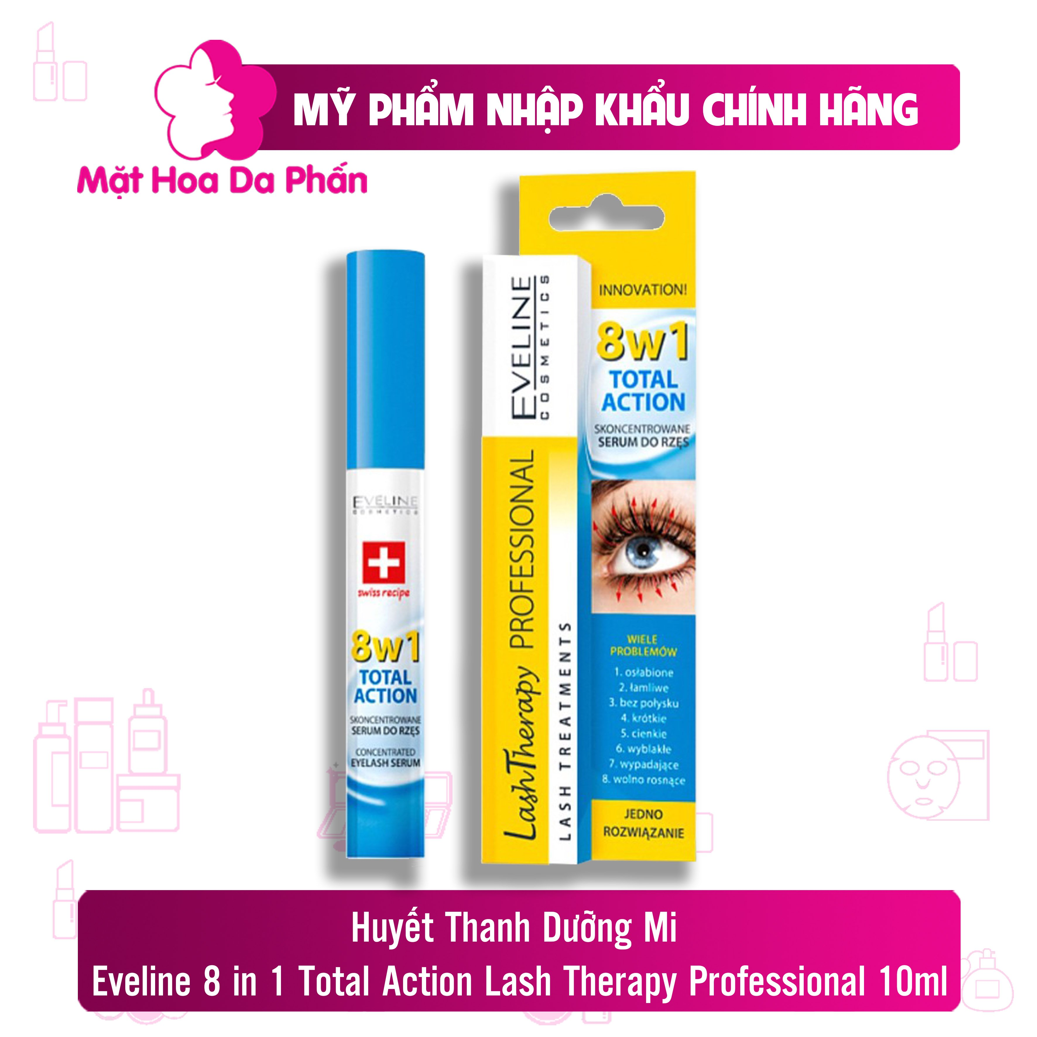 Dưỡng Mi Eveline 8 in 1 Total Action Lash Therapy Professional