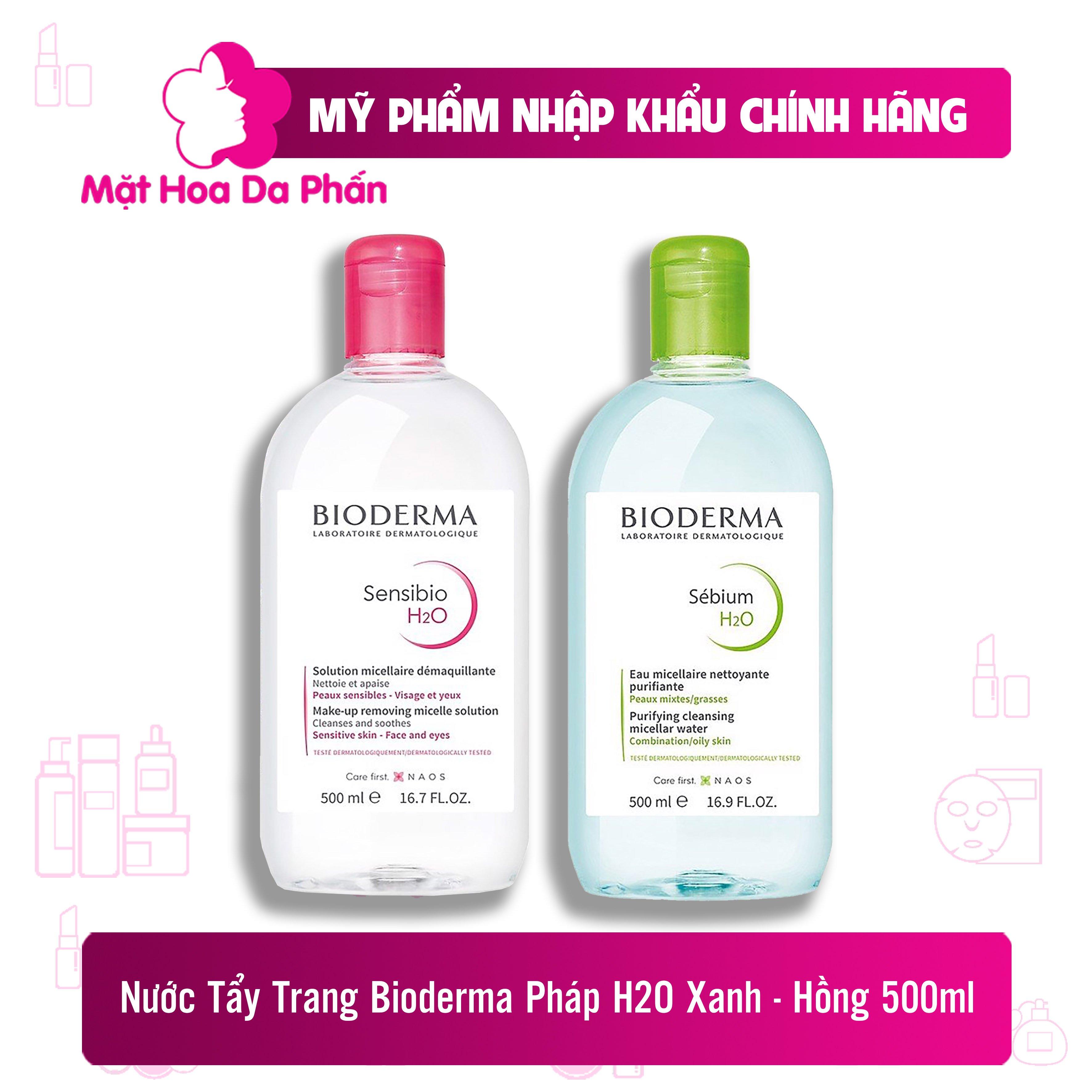 Tẩy Trang Bioderma Sensibio H2O Hồng 500ml