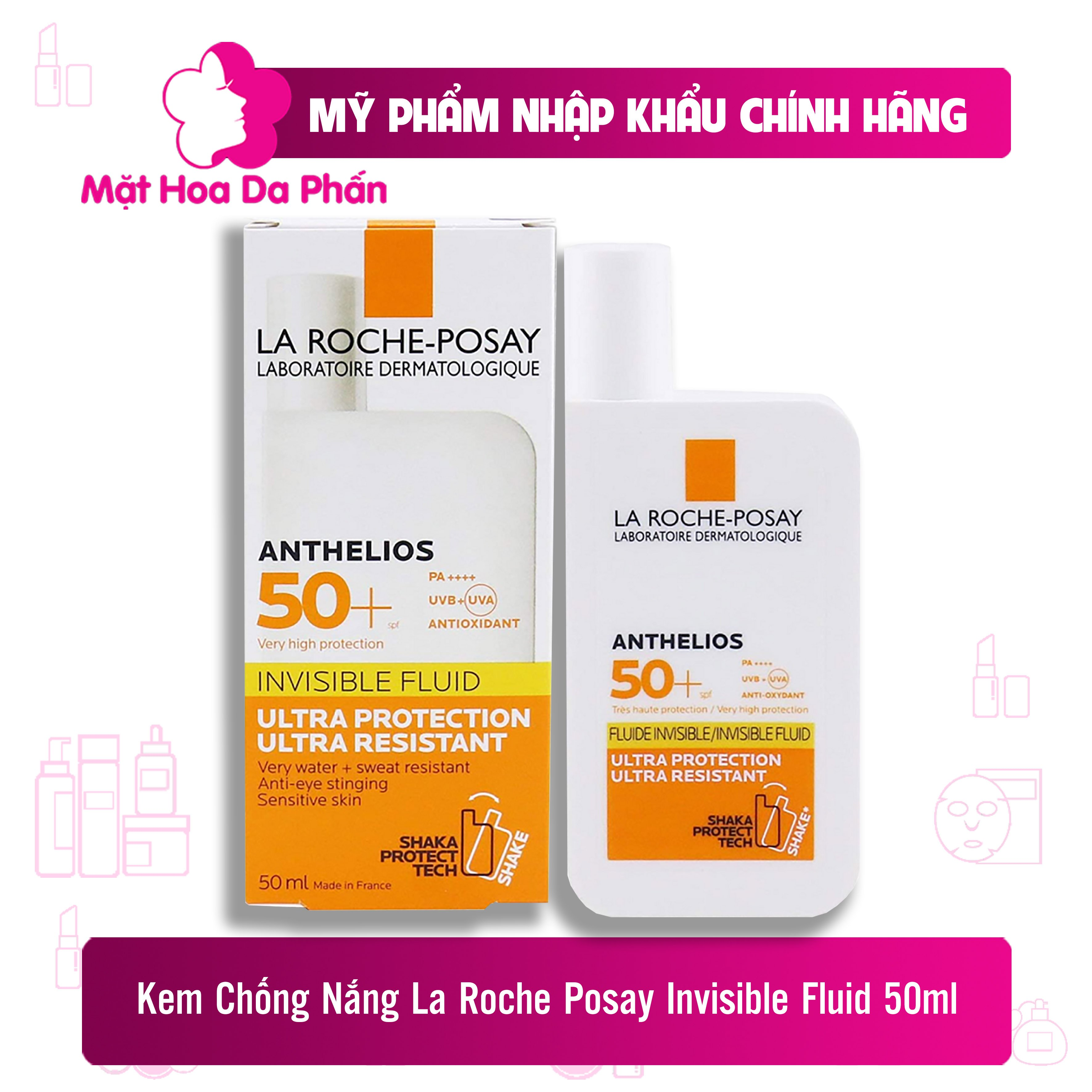 Kem Chống Nắng La Roche-Posay Anthelios Invisible Fluid SPF50+ 50ml