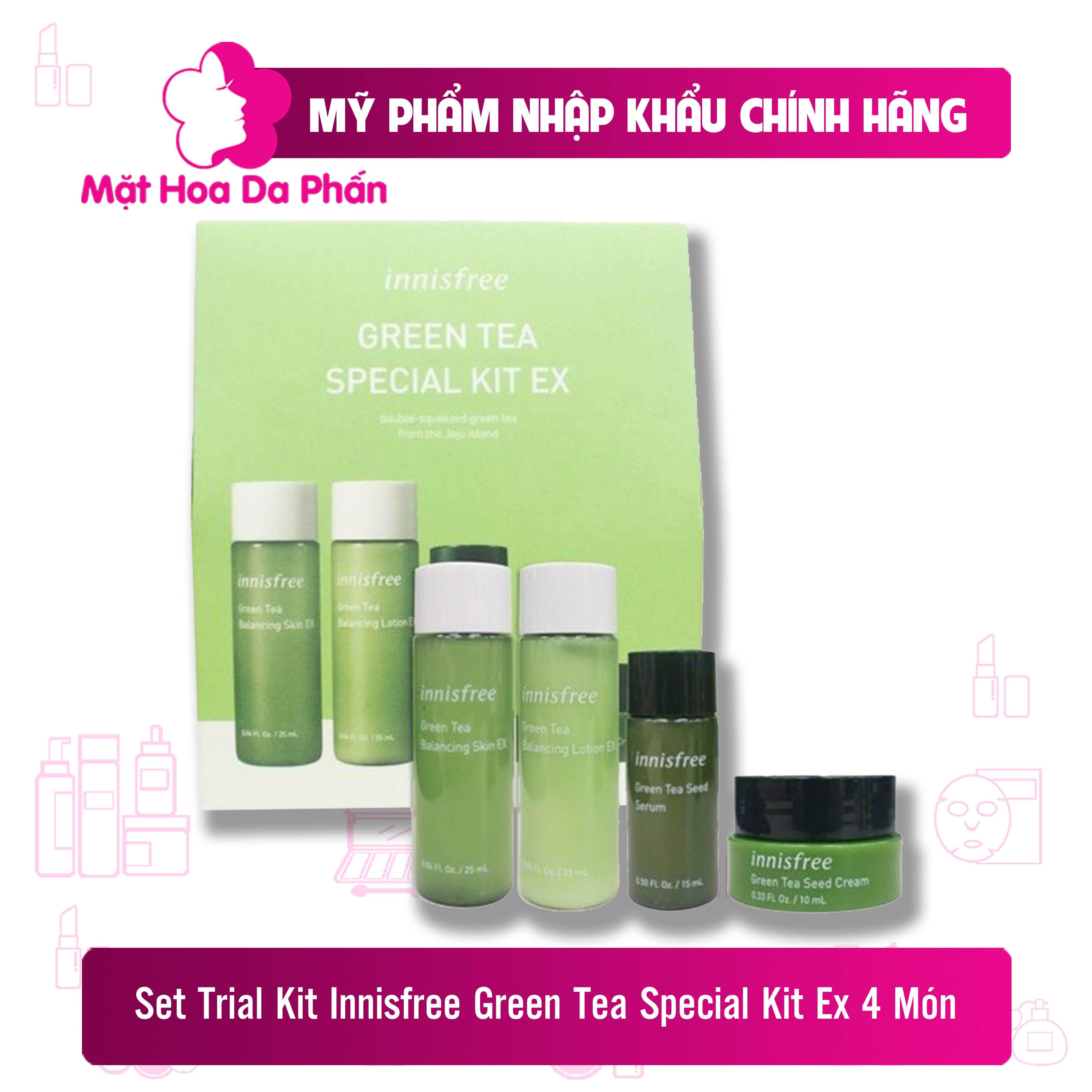 [New 2020] Trial Kit Innisfree Green Tea Special Kit Ex (4 Món)