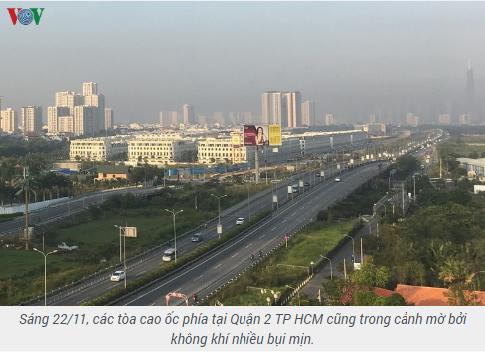 Thành phố Hồ Chí Minh lại xuất hiện sương mù do bụi mịn