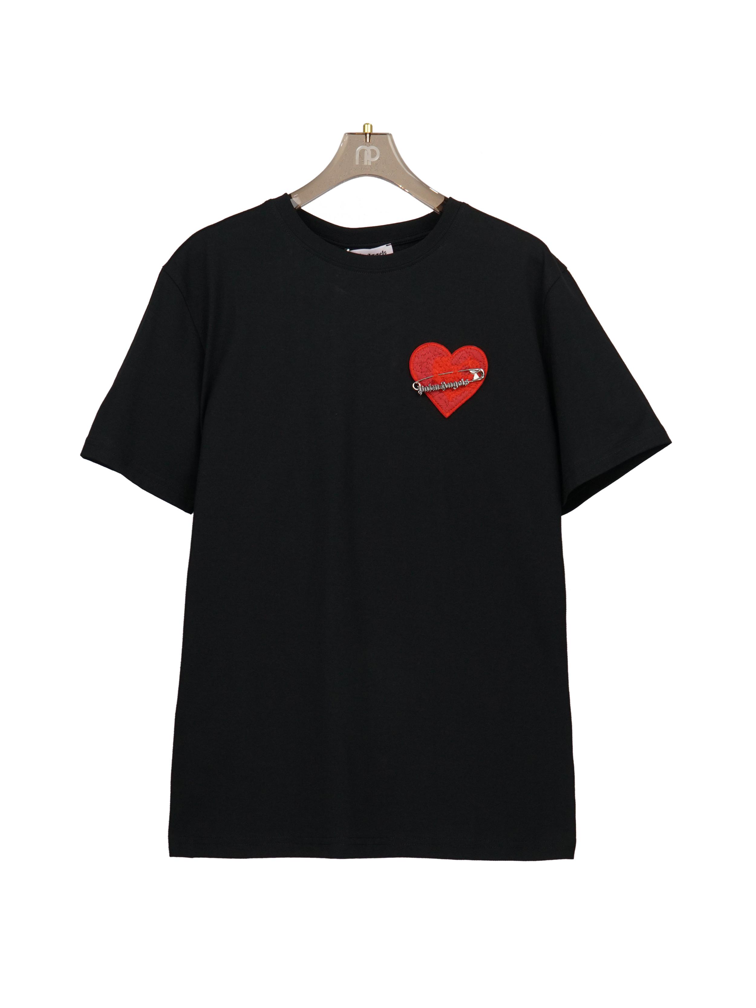 Áo thun tim đỏ - Đen