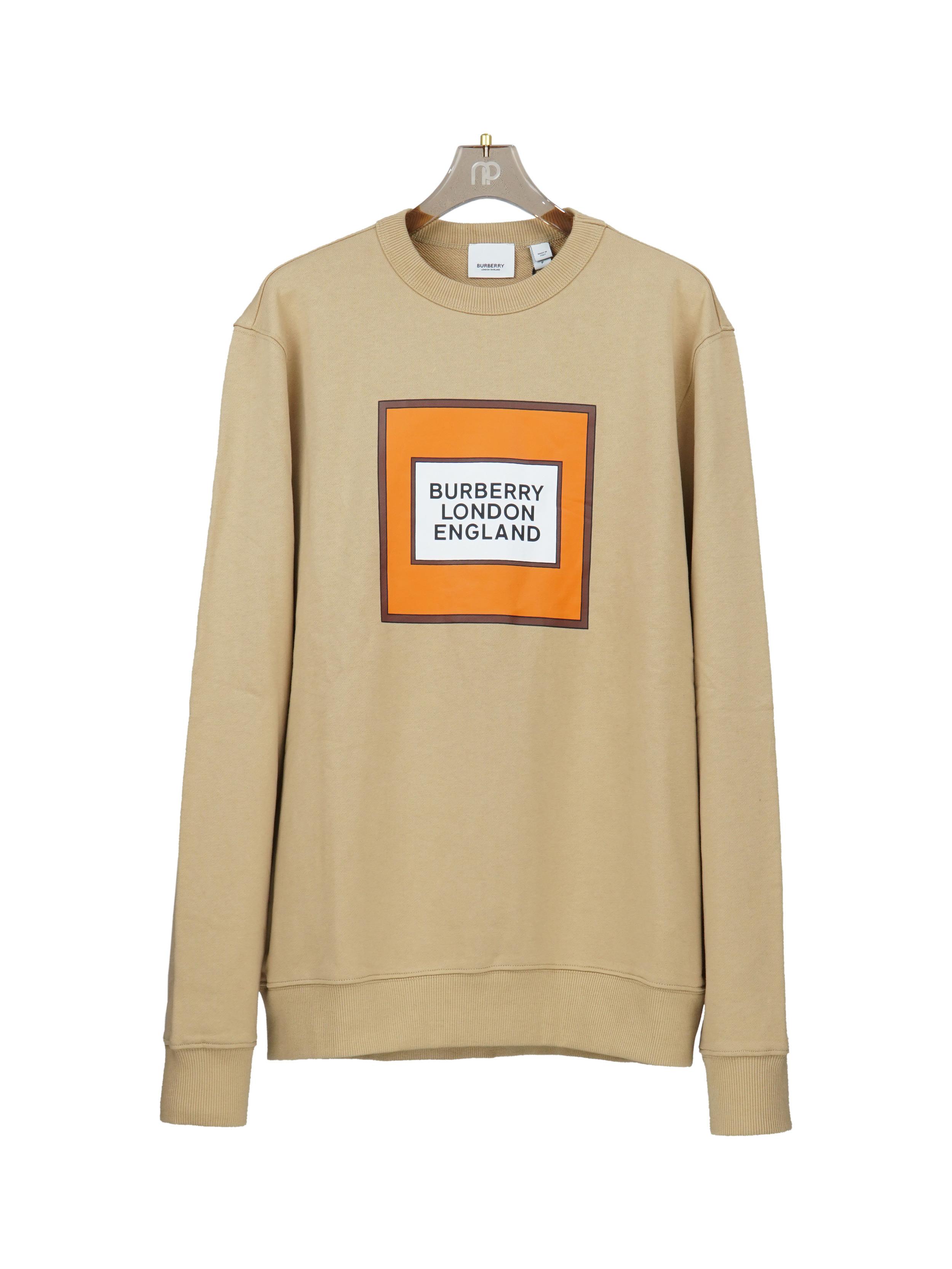 Sweatshirt ô vuông cam